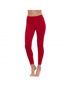 High-waist red yoga long Leggings MULADHARA - Chakra