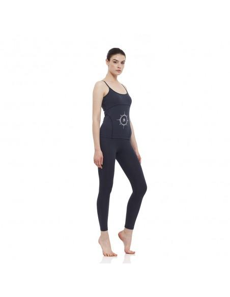 Completo: canotta yoga young + legging vita alta (blu)