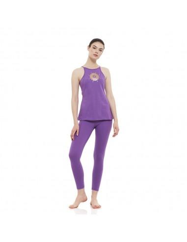 Sahasrara Outfit: sahasrara yoga top + high waist sahasrara yoga leggings (violet)