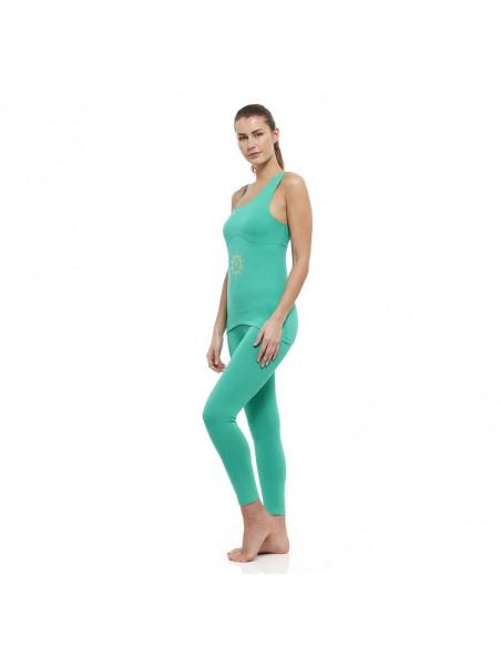 Completo Anahata: canotta yoga anahata + legging vita alta anahata (verde)