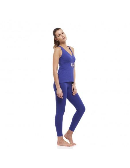 Completo Ajna: canotta yoga ajna + legging vita alta ajna (indaco)