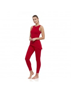 Muladhara Outfit: muladhara yoga top + high waist muladhara yoga leggings (red)