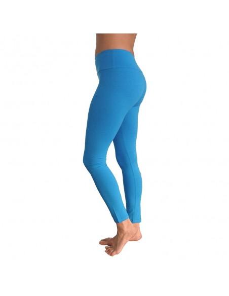 Turquoise Long Yoga Leggings VISHUDDHA - Chakra
