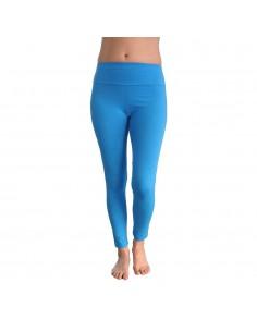Legging de yoga long haut de gamme turquoise VISHUDDHA - Chakra