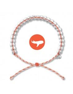 Bracciale 4Ocean Squalo Balena - Edizione Limitata Arancio/Bianco