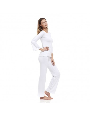 Traje de relax blanco: Camisa + Pantalones Barchetta