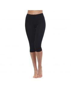 Cintura alta - Leggings cortos de yoga Negro - Yoga Essential